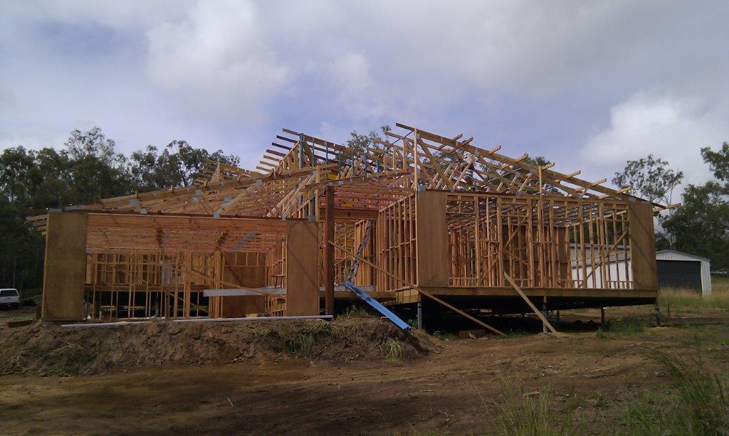 House construction on the Sunny Coast